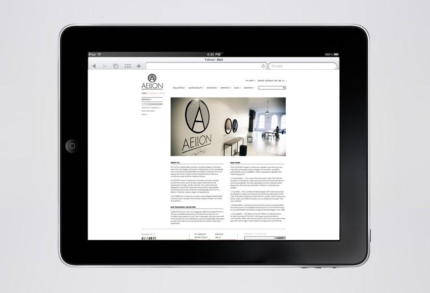 Aellon Furniture Website
