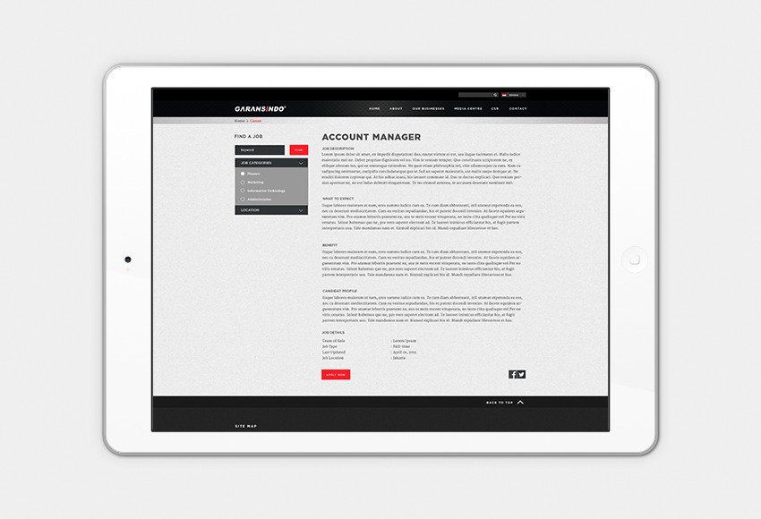 Garansindo - Website
